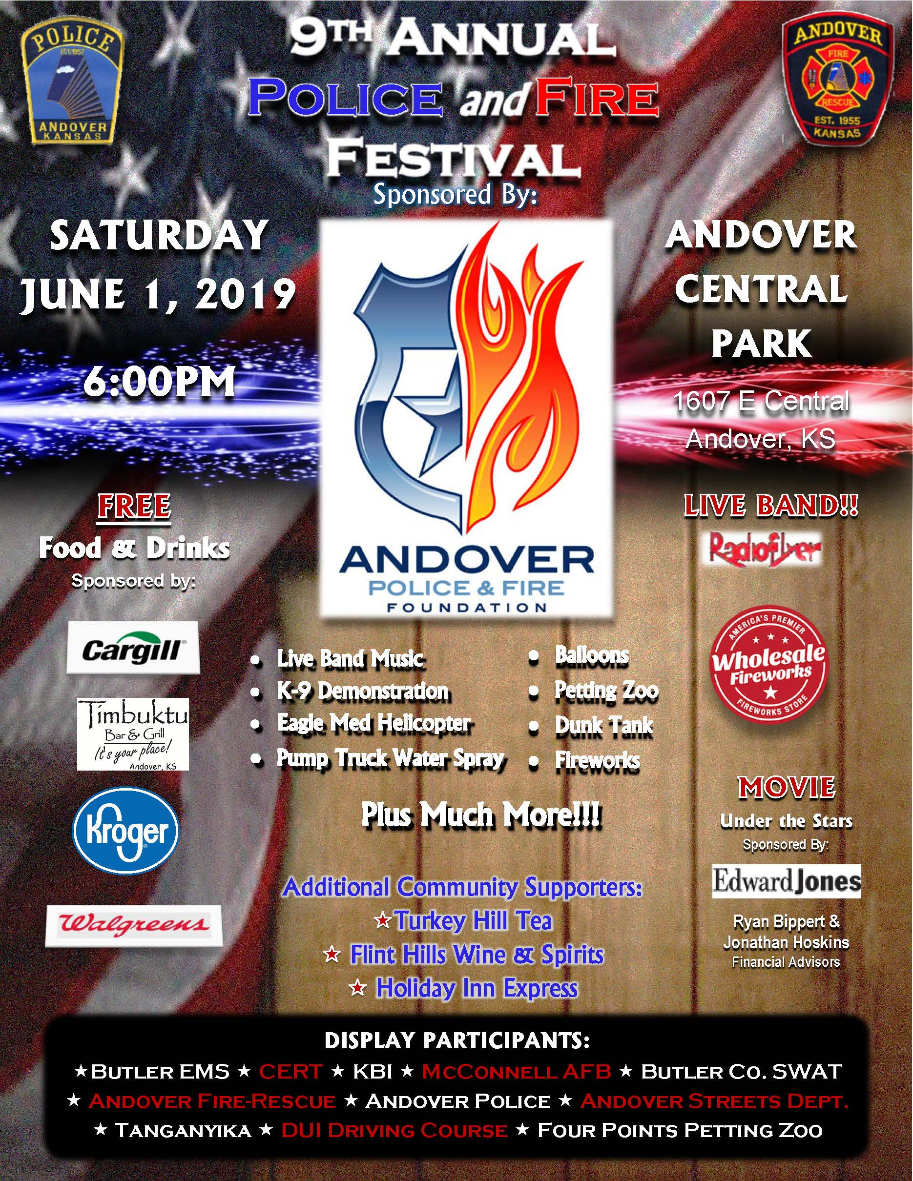 2019 Police and Fire Festival Flier