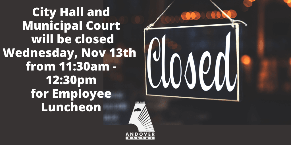 City Hall Closed from 1130am-1230pm on 111319