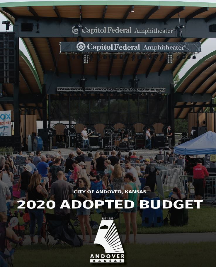 2020 Budget book cover - Image of the Capitol Federal Amphitheater