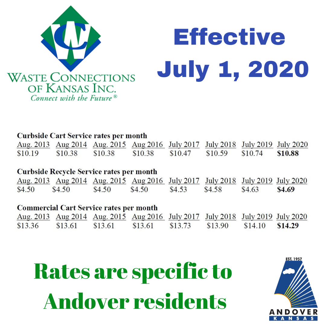 WasteConnections Rates effective 070120