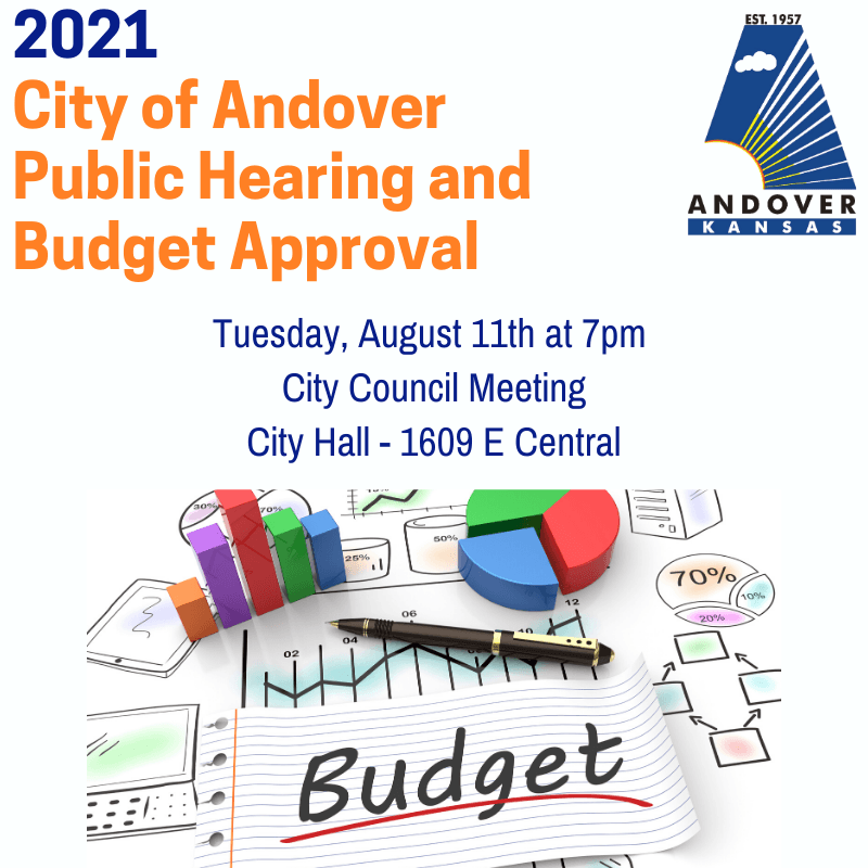 2021 City of AndoverBudget Approval Hearing August 11 at 7pm
