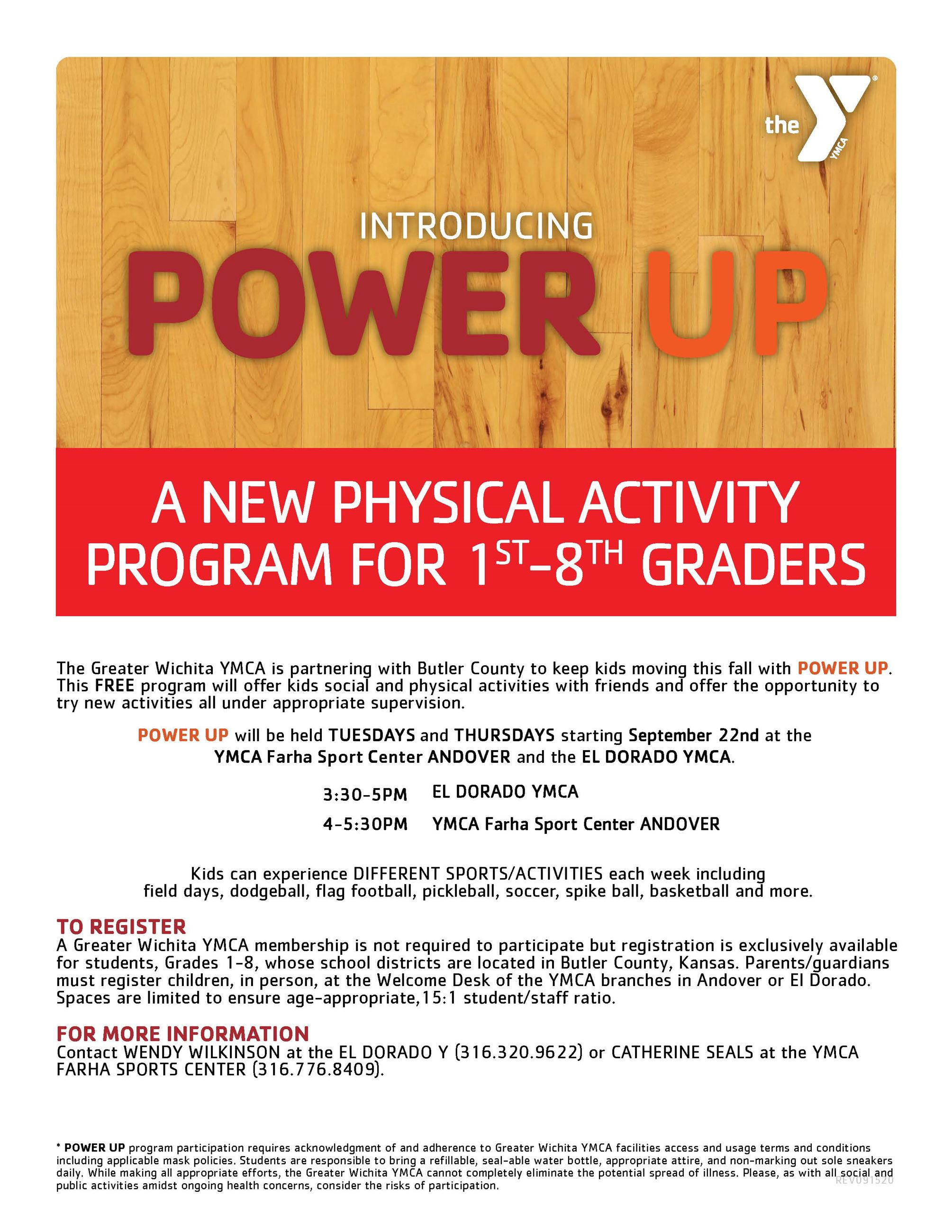YMCA PowerUP Flyer