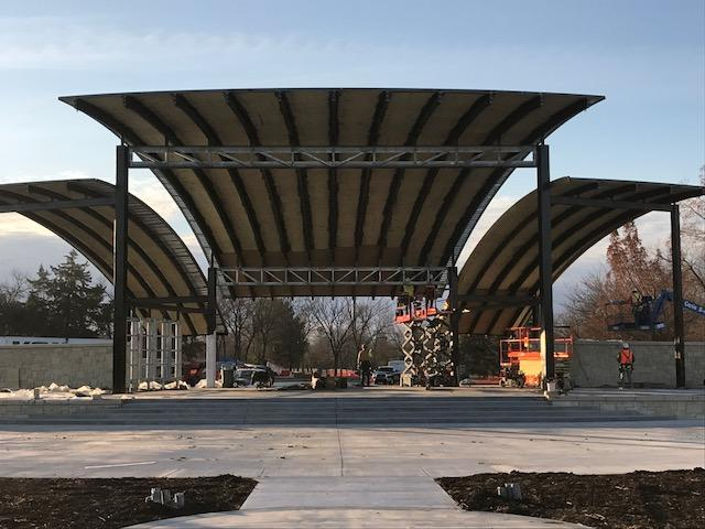 Capitol Federal Amphitheater - 12-1-17 progress - front