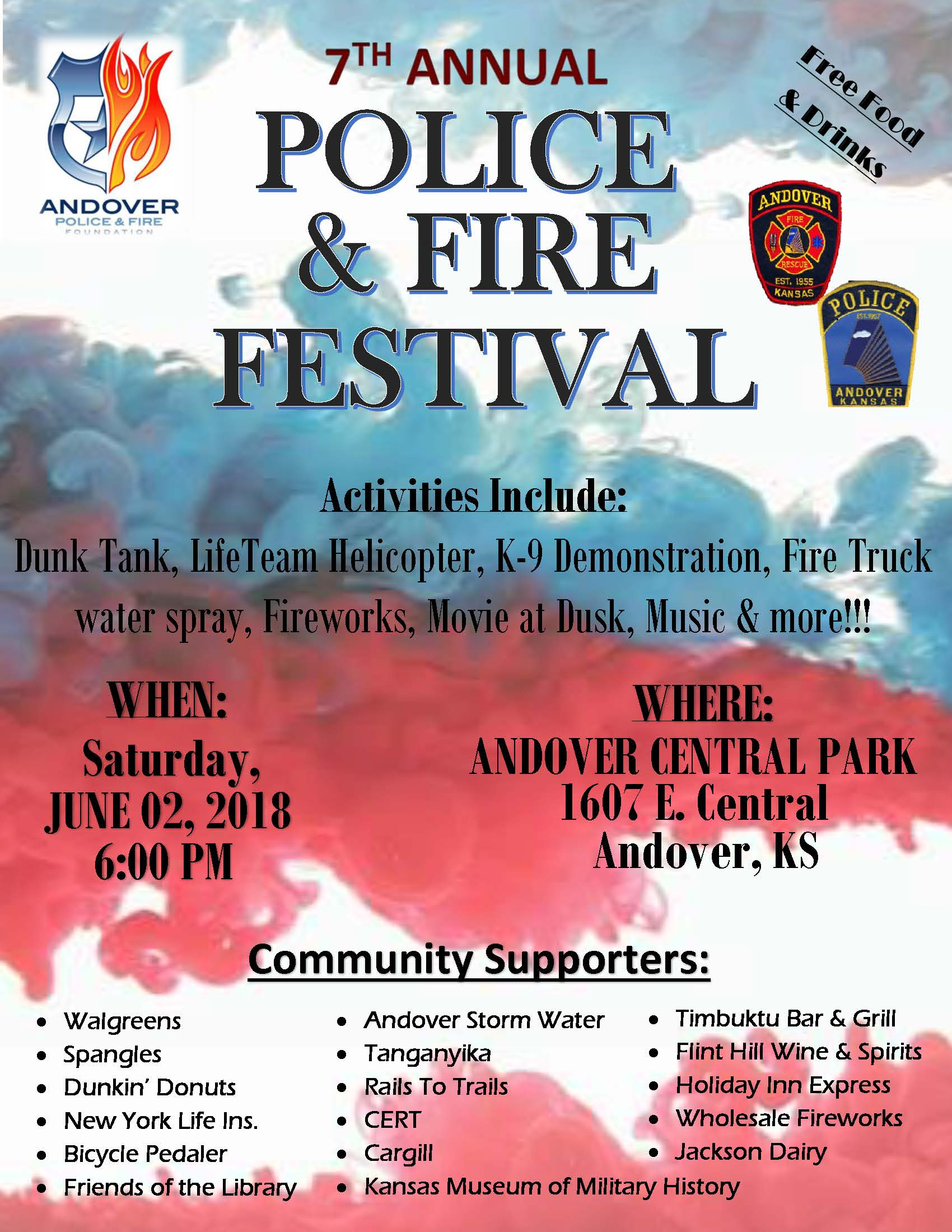 2018 Police and Fire Festival Flyer