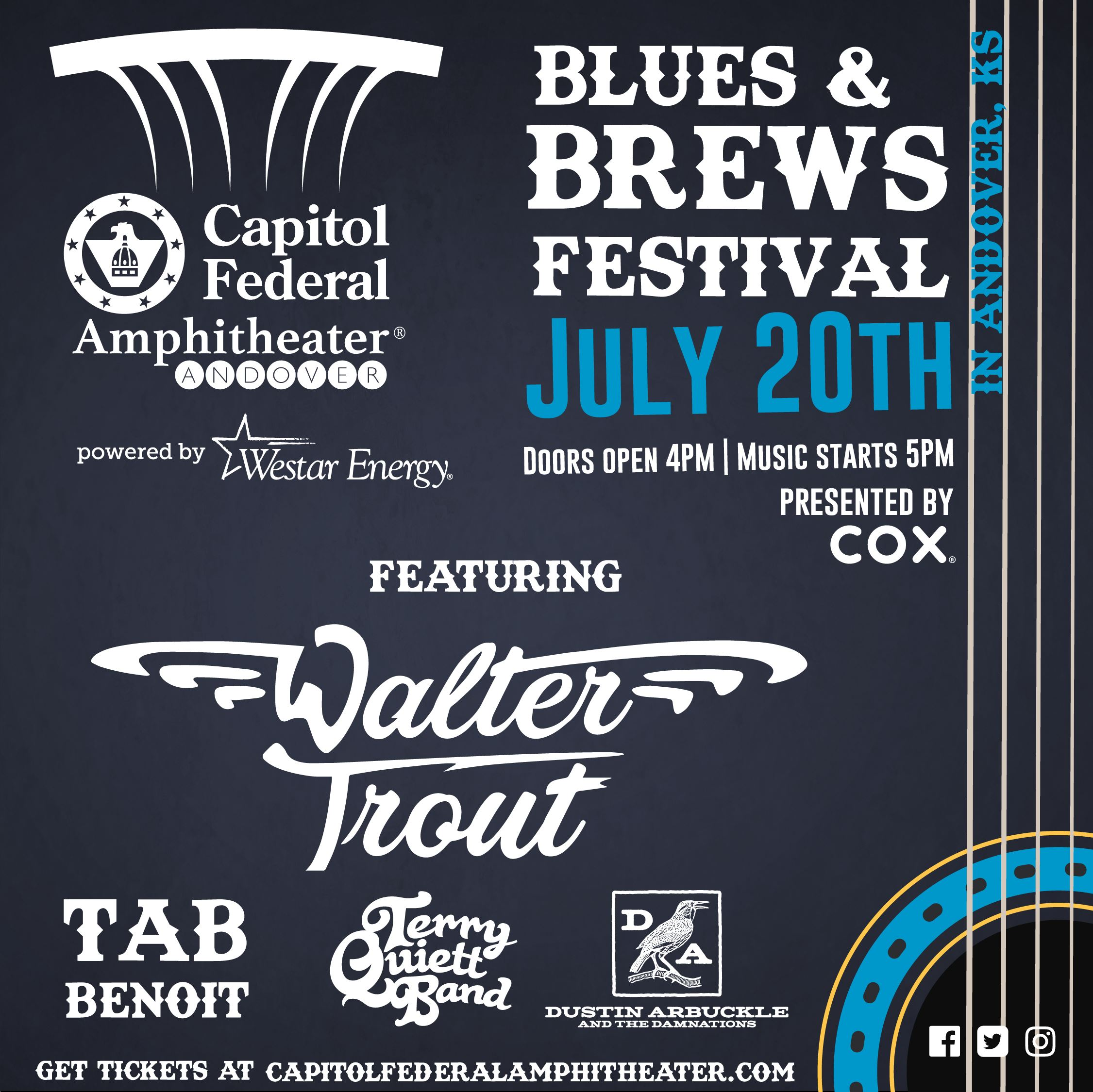 Blues and Brews Festival Poster