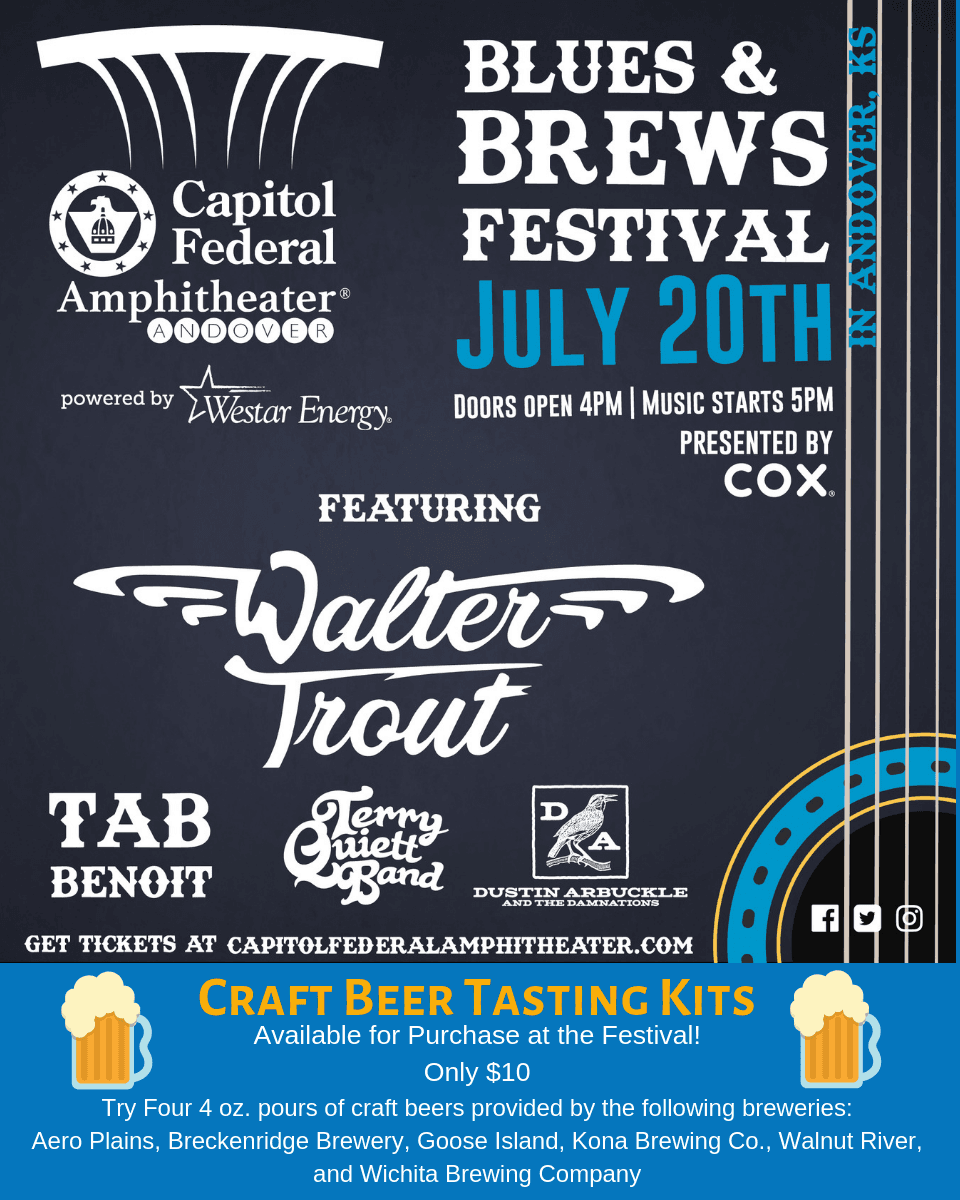 Blues and Brews Poster with Brew Tasting info