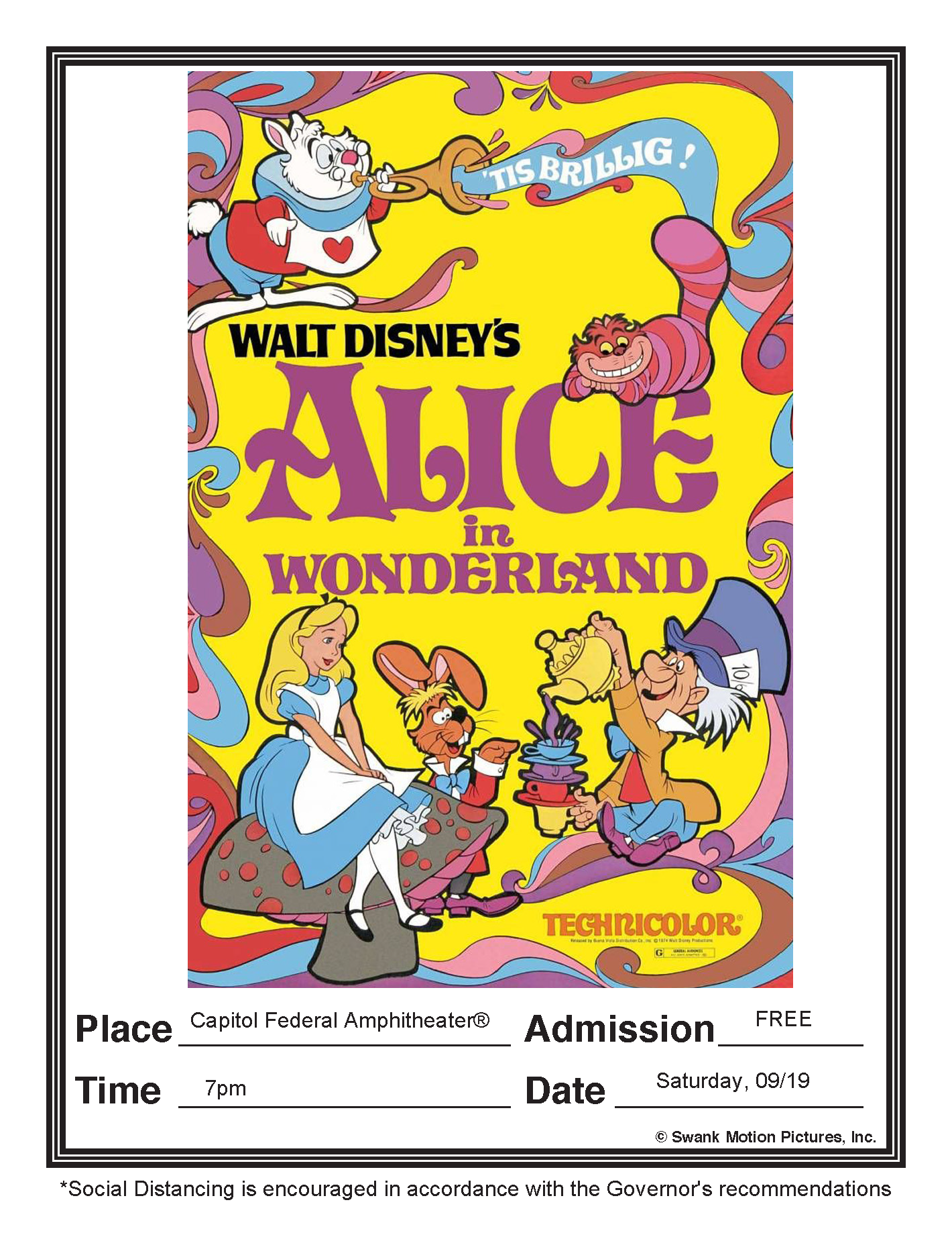Alice in Wonderland - 09/19/20 7pm
