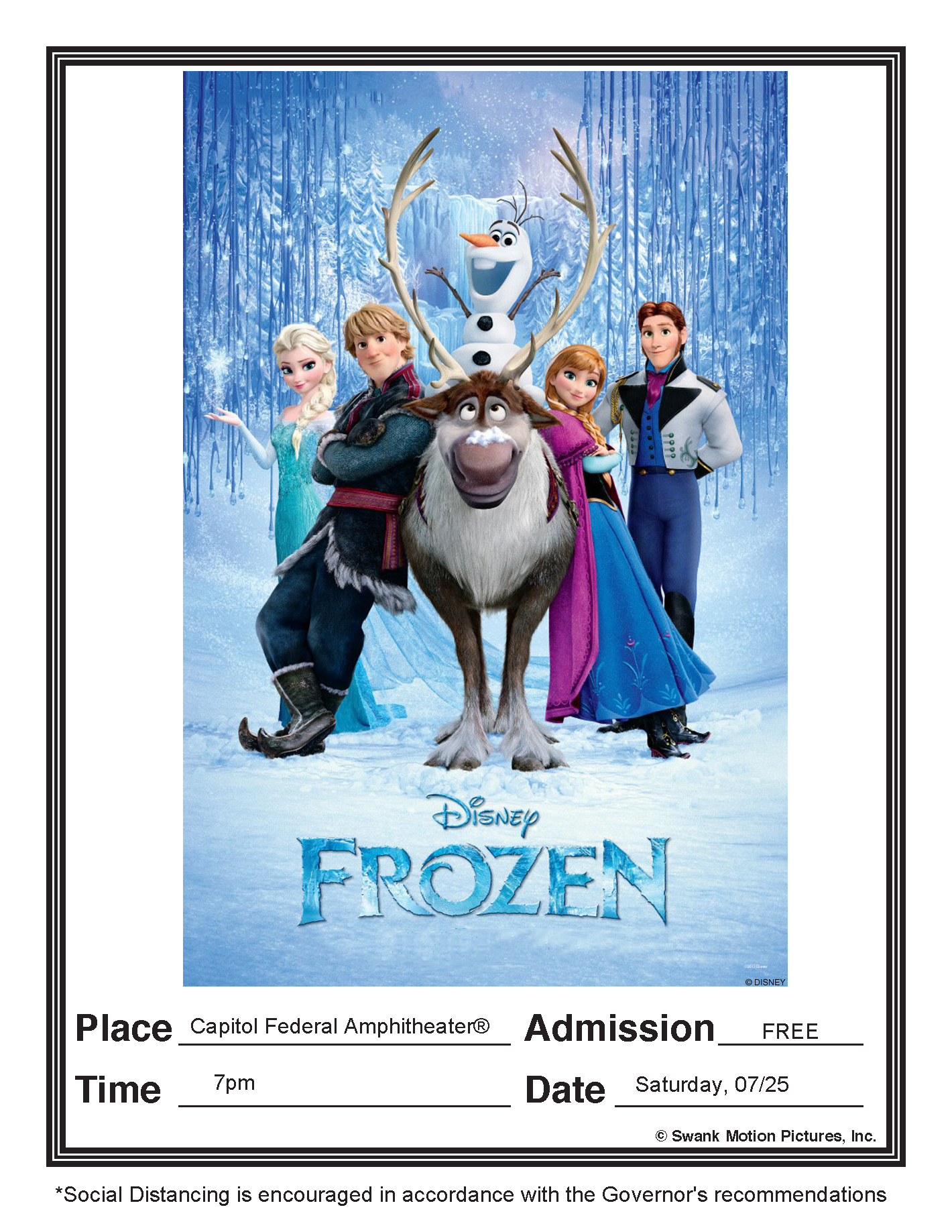 Frozen - 07/25/20 7pm