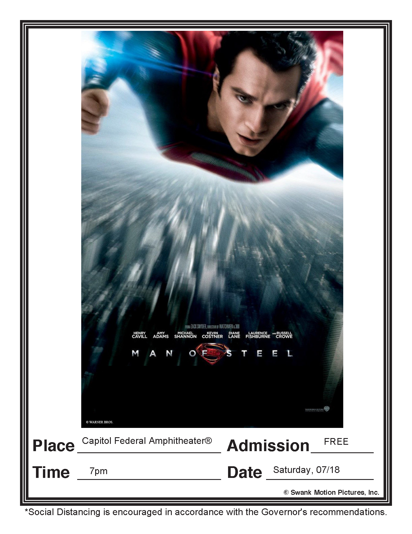 Man of Steel - 07/18/20 7pm