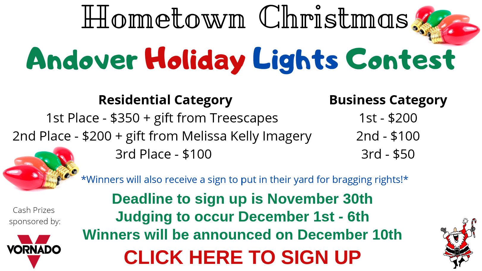 Holiday lights contest prizes  Opens in new window