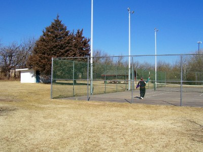 Small Picnic Shelter and Tennis Courts